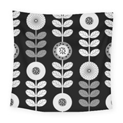 Floral Pattern Seamless Background Square Tapestry (large)