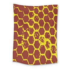 Network Grid Pattern Background Structure Yellow Medium Tapestry by Simbadda