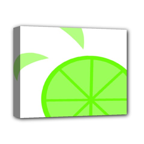 Fruit Lime Green Deluxe Canvas 14  X 11  by Alisyart