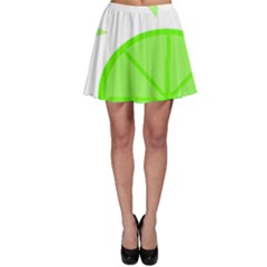 Fruit Lime Green Skater Skirt