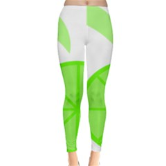 Fruit Lime Green Classic Winter Leggings