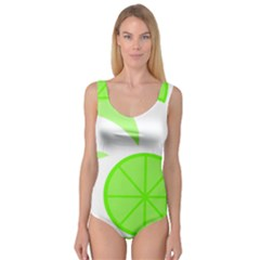 Fruit Lime Green Princess Tank Leotard