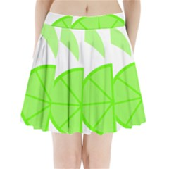 Fruit Lime Green Pleated Mini Skirt