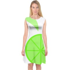 Fruit Lime Green Capsleeve Midi Dress by Alisyart