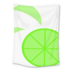 Fruit Lime Green Medium Tapestry by Alisyart