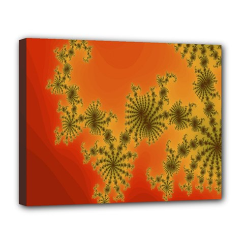 Decorative Fractal Spiral Canvas 14  X 11