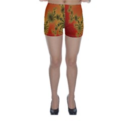 Decorative Fractal Spiral Skinny Shorts by Simbadda