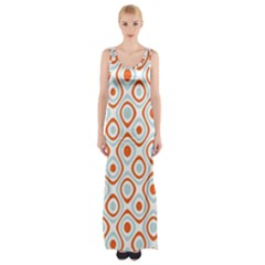 Pattern Background Abstract Maxi Thigh Split Dress