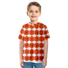 Icon Library Web Icons Internet Social Networks Kids  Sport Mesh Tee by Simbadda