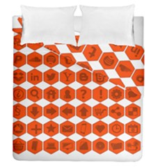Icon Library Web Icons Internet Social Networks Duvet Cover Double Side (queen Size)