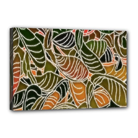 Floral Pattern Background Canvas 18  X 12  by Simbadda