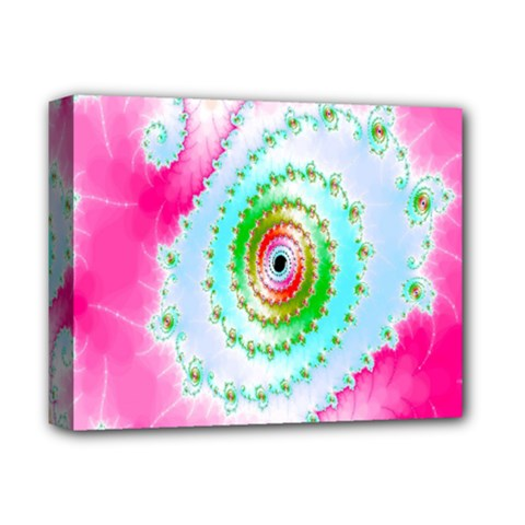 Decorative Fractal Spiral Deluxe Canvas 14  X 11