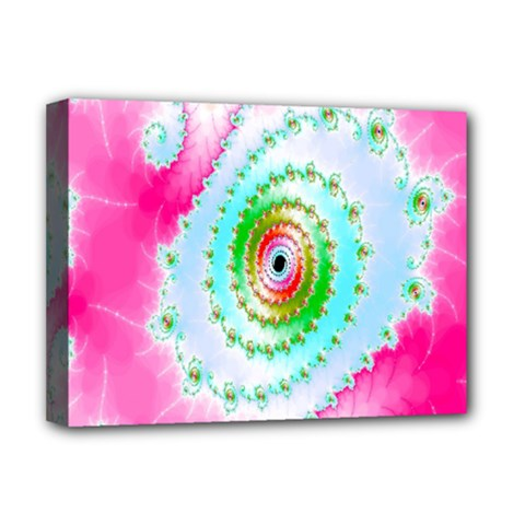 Decorative Fractal Spiral Deluxe Canvas 16  X 12