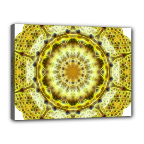 Fractal Flower Canvas 16  X 12  by Simbadda