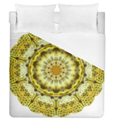 Fractal Flower Duvet Cover (queen Size) by Simbadda