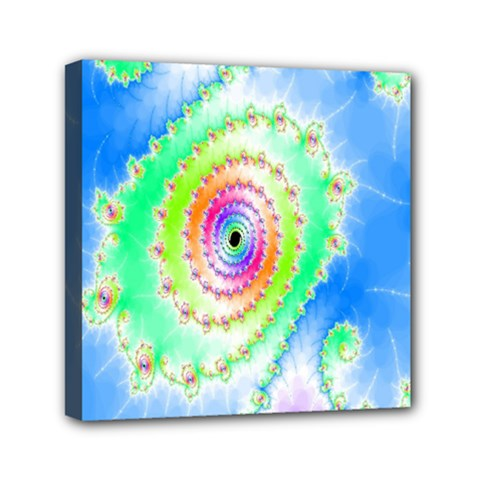Decorative Fractal Spiral Mini Canvas 6  X 6