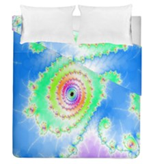 Decorative Fractal Spiral Duvet Cover Double Side (queen Size) by Simbadda
