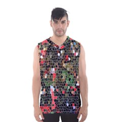 Colorful Abstract Background Men s Basketball Tank Top