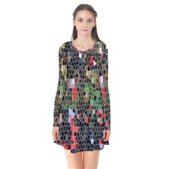 Colorful Abstract Background Flare Dress