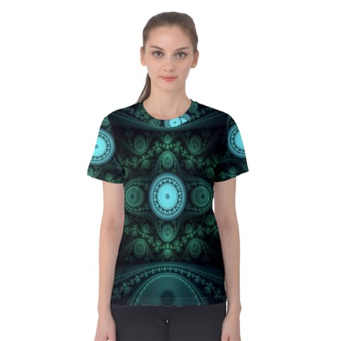 Grand Julian Fractal Women s Cotton Tee by Simbadda