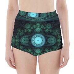 Grand Julian Fractal High-waisted Bikini Bottoms by Simbadda