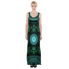 Grand Julian Fractal Maxi Thigh Split Dress by Simbadda