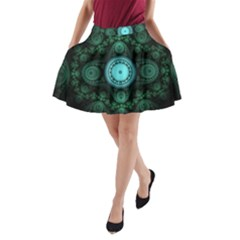 Grand Julian Fractal A Line Pocket Skirt by Simbadda