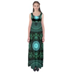 Grand Julian Fractal Empire Waist Maxi Dress by Simbadda