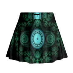 Grand Julian Fractal Mini Flare Skirt by Simbadda