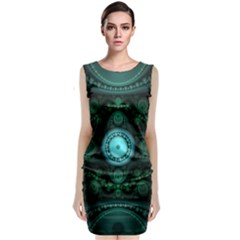 Grand Julian Fractal Sleeveless Velvet Midi Dress by Simbadda