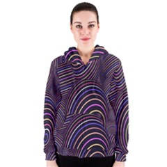Abstract Colorful Spheres Women s Zipper Hoodie