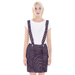 Abstract Colorful Spheres Suspender Skirt