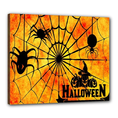 Halloween Weird  Surreal Atmosphere Canvas 24  X 20  by Simbadda