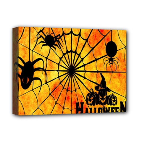 Halloween Weird  Surreal Atmosphere Deluxe Canvas 16  X 12   by Simbadda