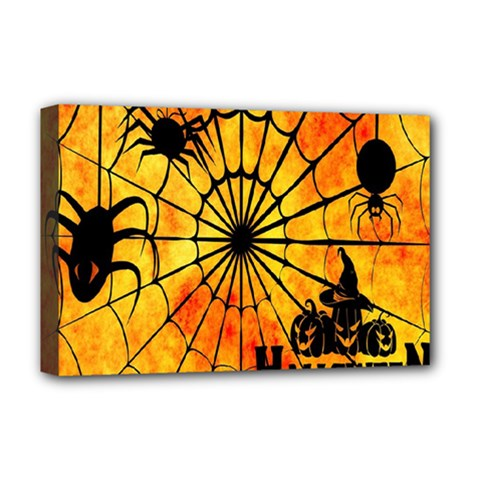 Halloween Weird  Surreal Atmosphere Deluxe Canvas 18  X 12   by Simbadda