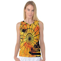 Halloween Weird  Surreal Atmosphere Women s Basketball Tank Top by Simbadda