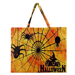 Halloween Weird  Surreal Atmosphere Zipper Large Tote Bag by Simbadda