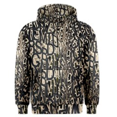 Wallpaper Texture Pattern Design Ornate Abstract Men s Zipper Hoodie by Simbadda
