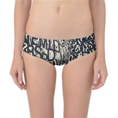 Wallpaper Texture Pattern Design Ornate Abstract Classic Bikini Bottoms by Simbadda