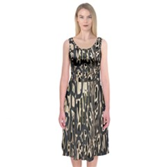 Wallpaper Texture Pattern Design Ornate Abstract Midi Sleeveless Dress by Simbadda