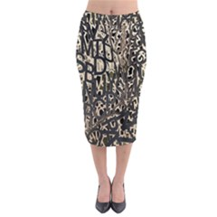 Wallpaper Texture Pattern Design Ornate Abstract Midi Pencil Skirt