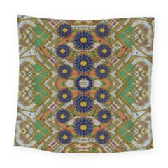 Fleur Flower Porcelaine In Calm Square Tapestry (large) by pepitasart