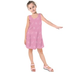 Pink Pattern Kids  Sleeveless Dress by Valentinaart