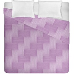 Purple Pattern Duvet Cover Double Side (king Size) by Valentinaart