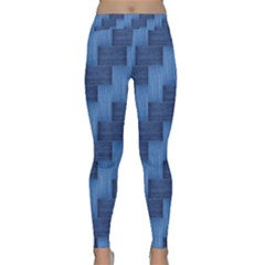 Blue Pattern Classic Yoga Leggings by Valentinaart
