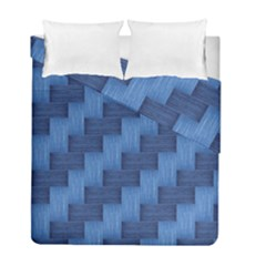 Blue Pattern Duvet Cover Double Side (full/ Double Size) by Valentinaart