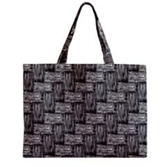 Gray Pattern Zipper Mini Tote Bag by Valentinaart
