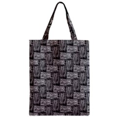 Gray Pattern Zipper Classic Tote Bag by Valentinaart