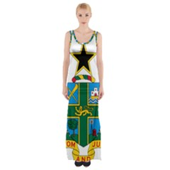 Coat Of Arms Of Ghana Maxi Thigh Split Dress