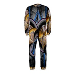 Fractal Tech Disc Background Onepiece Jumpsuit (kids)